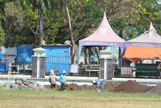 Pemkab Probolinggo Pugar Alun-alun Kraksaan