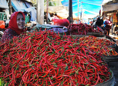 Harga Cabai Rawit dan Daging Meroket, Pedagang Merugi