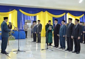 Empat Wakil Rektor Unair Surabaya Dilantik