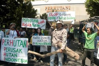 Aktivis Lingkungan Jatim Geruduk Perum Perhutani