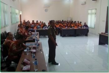 Kodim 0815 Sosialisasi Peran TNI di Tagana