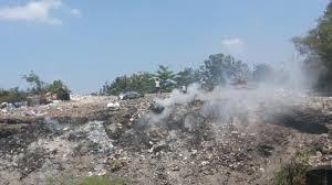 Warga Ngingas Sidoarjo Terganggu Bakar Sampah