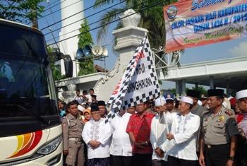 Sekda Lepas 443 CJH Kabupaten Bangkalan