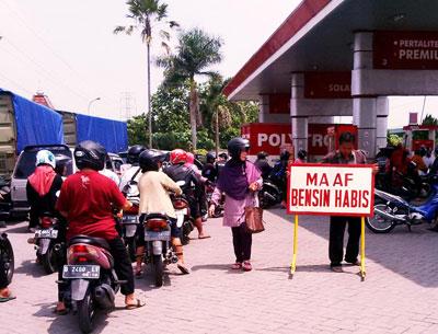Harga BBM Turun, Premium di Kota Kediri dan Jombang Langka