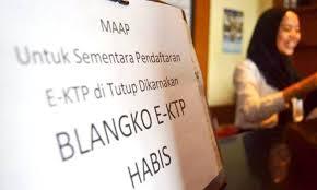 Blangko Habis, Ribuan Warga Gagal Miliki e-KTP