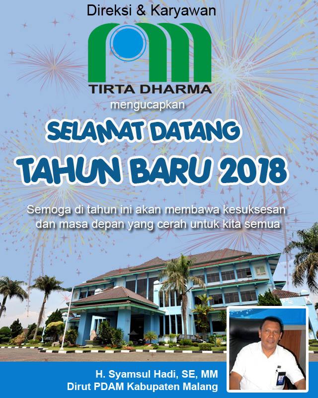 PDAM Kabupaten Malang Mengucapkan Selamat Tahun Baru 2018