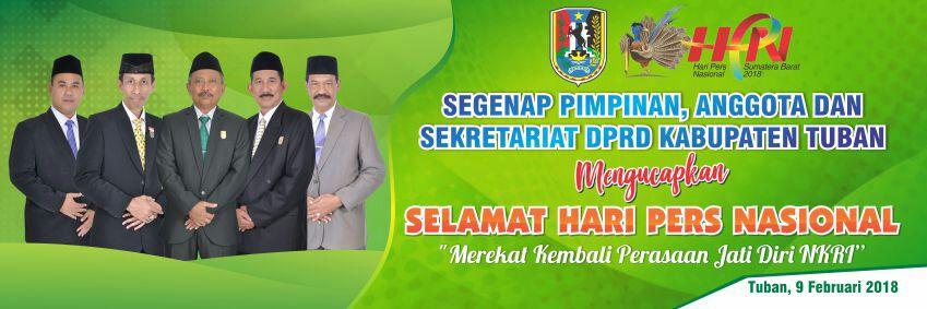 DPRD Kabupaten Tuban Mengucapkan Selamat Hari Pers Nasional 2018
