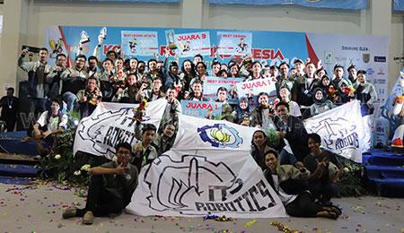 Robotika ITS Sukses Pertahankan Juara Umum KRI 2019
