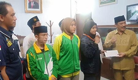 Wabup Apresiasi Tiga Pesilat Pagar Nusa