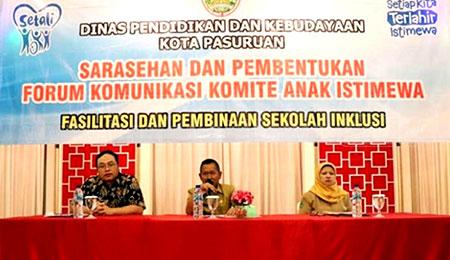 Dispendikbud Kota Pasuruan Bentuk Forum Komunikasi Komite Anak Istimewa