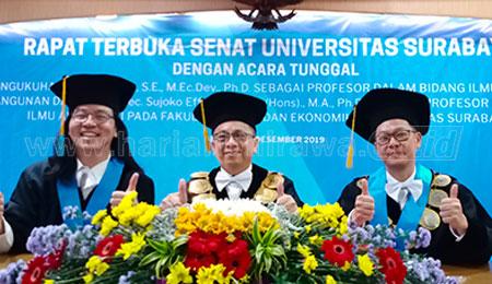 Usai Kukuhkan Guru Besar dari Fakultas Bisnis dan Ekonomika