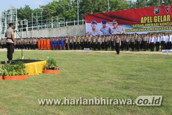 Polres Bojonegoro Gelar Apel Aman Nusa II Kesiapsiagaan Bencana