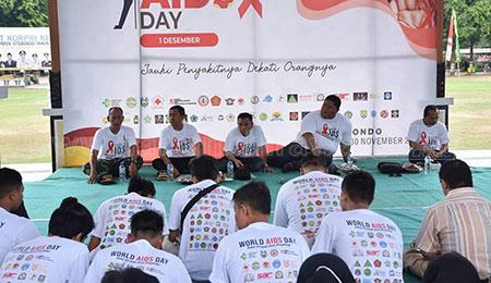 Pelajar Bersama Mahasiswa Dukung Hari AIDS Sedunia