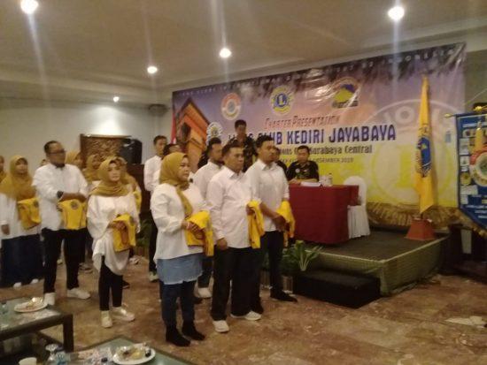 Emban Misi Sosial, Charter Presentation Lions Club Kediri Jayabaya Dilantik