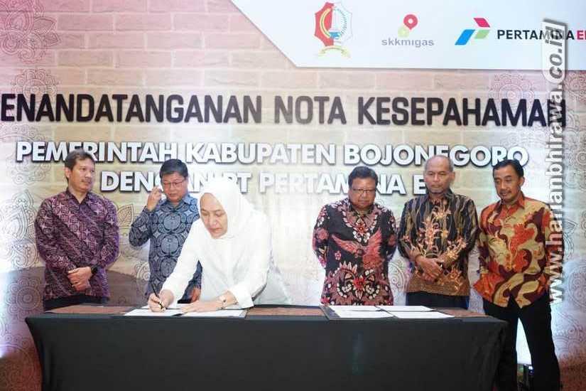 Pertamina EP dan Pemkab Bojonegoro Teken MoU Rencana Pengeboran