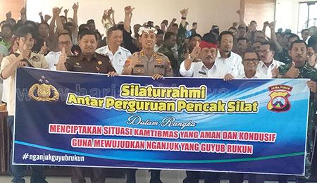 Antisipasi Bentrok Perguruan Silat, Polres Nganjuk Bentuk Forum Kerukunan