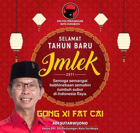 PDIP Surabaya Ajak Kader Bantu Masyarakat Tionghoa Marakkan Imlek