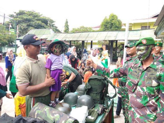 Koramil 0813-09/Sumberejo Kenalkan Profesi TNI pada Siswa KB