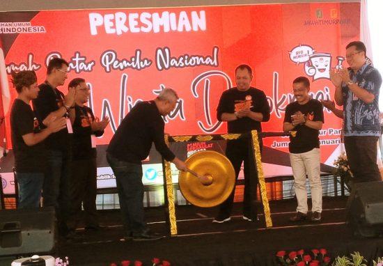 Ketua KPU RI Arief Budiman Resmikan RPP Nasional di Kota Batu