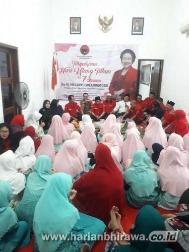 PDIP Surabaya Rayakan Ulang Tahun Megawati Soekarnoputri