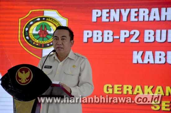 Bappenda Kabupaten Mojokerto Launching Gerakan Pembayaran PBB-P2 Non Tunai