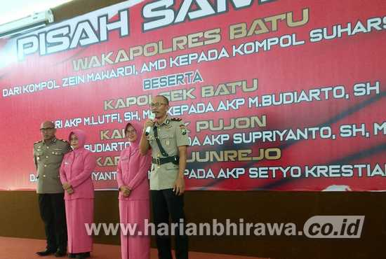 Tingkatkan Layanan Masyarakat, Polresta Batu Mutasi Enam Perwira