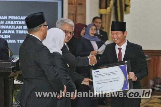 Trenggalek Raih Penghargaan Maturitas SPIP Level 3 dari BPK-RI