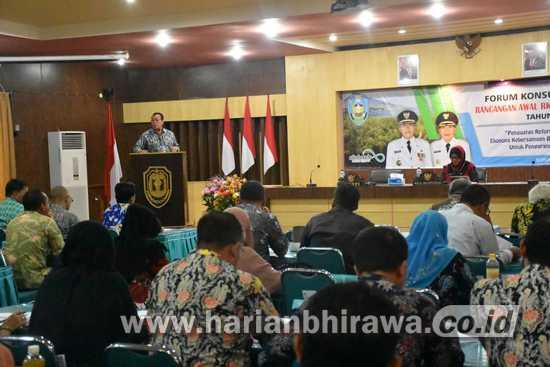 Bupati Situbondo Pimpin Forum Konsultasi Publik RKPD Tahun 2021