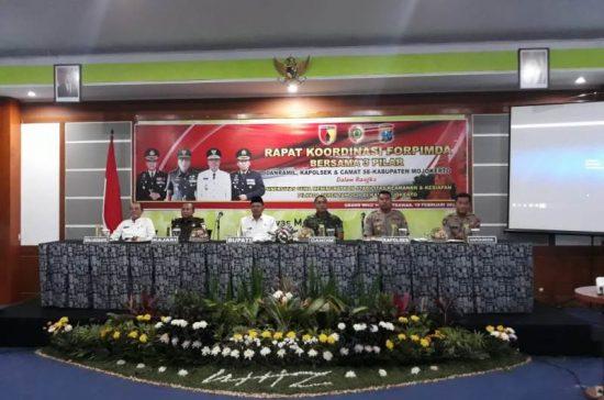 Usai Rakor Binwil, Dandim Siapkan 850 Personel Amankan Pilkada Mojokerto