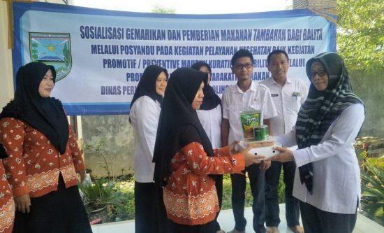 Diskan Kabupaten Probolinggo Sosialisasikan Gemarikan dan PMT Balita