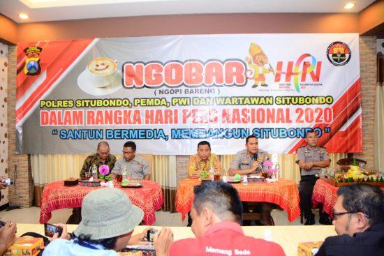 Peringati HPN 2020, Pemkab/Polres/PWI Situbondo Dukung Santun Bermedia