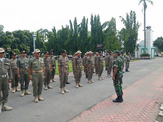 Anggota Satpol PP Digembleng Kodim 0814 Jombang