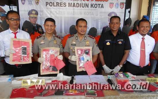 Polres Madiun Kota Ungkap 16 Kasus Pidana dan Narkoba