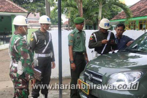 Kodim 0814 Jombang Cek Kendaraan Anggota Secara Mendadak