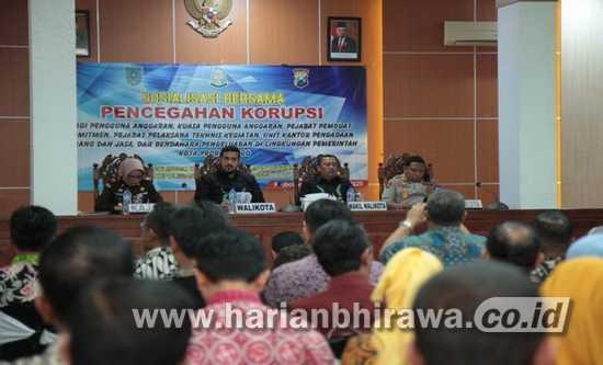 Inspektorat Kota Probolinggo Gelar Sosialisasi Pencegahan Korupsi