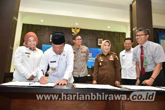 Teken MoU, Kabupaten Lamongan Siap Terapkan e-Tilang