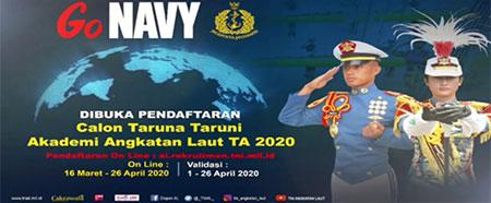 Pendaftaran Calon Taruna Taruni Akademi TNI Angkatan Laut Tahun 2020