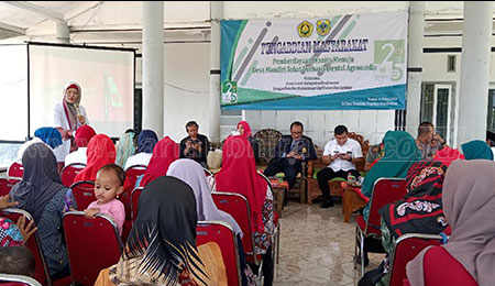 Mahasiswa FKG Bantu Wujudkan Masyarakat Agroindustri di Desa Bandilan