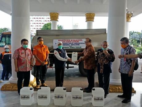 Gotong Royong Tangani Corona, Pemprov Terima Bantuan 20 Ribu Ethanol