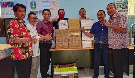 Cabdindik Bojonegoro Distribusikan Produk Hand Sanitizer Produksi Siswa