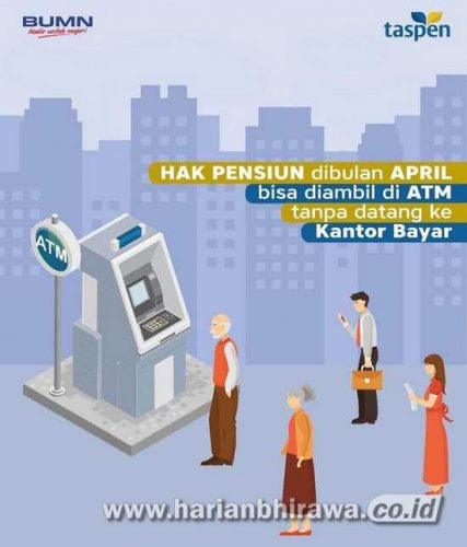 Taspen: Layanan Pembayaran Pensiun per April Melalui ATM