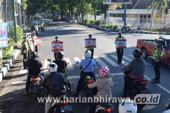 Polres Bondowoso Ajak Masyarakat Cegah Penularan Covid-19
