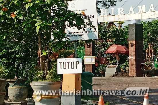 Tutup Pengunjung DLHK Sidoarjo, Manfaatkan Merawat Sembilan Taman