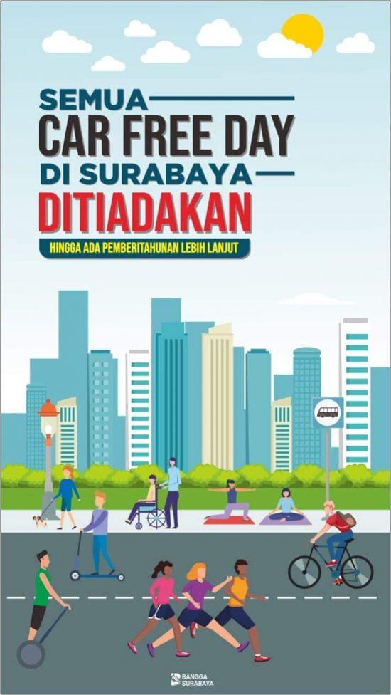 Cegah Corona, Pemkot Surabaya Tiadakan Sementara Car Free Day
