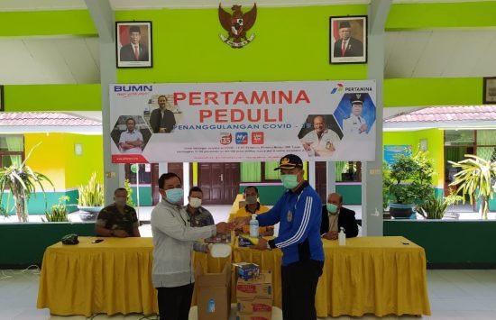 Pertamina Bagikan 10 Ribu Masker Warga Kabupaten Tuban