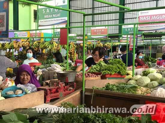 Lesunya Pasar Tradisional Kota Malang di Tengah Pandemi Covid-19