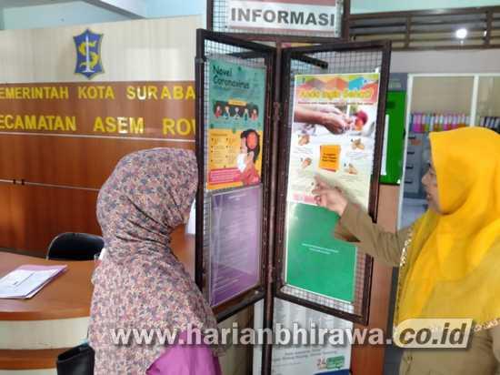 Cegah Corona, Kecamatan Asemrowo Surabaya Sediakan Hand Sanitizer di Loket