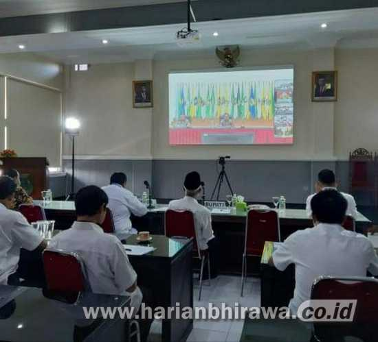 Bupati Bondowoso Gelar Video Conference Bahas Covid-19