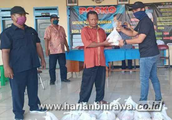 PWI Kediri Salurkan Ratusan Sembako pada Warga Terdampak Covid-19