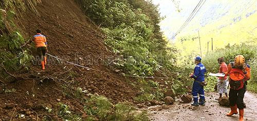 Hujan Intensitas Tinggi, Tebing Rajekwesi Longsor